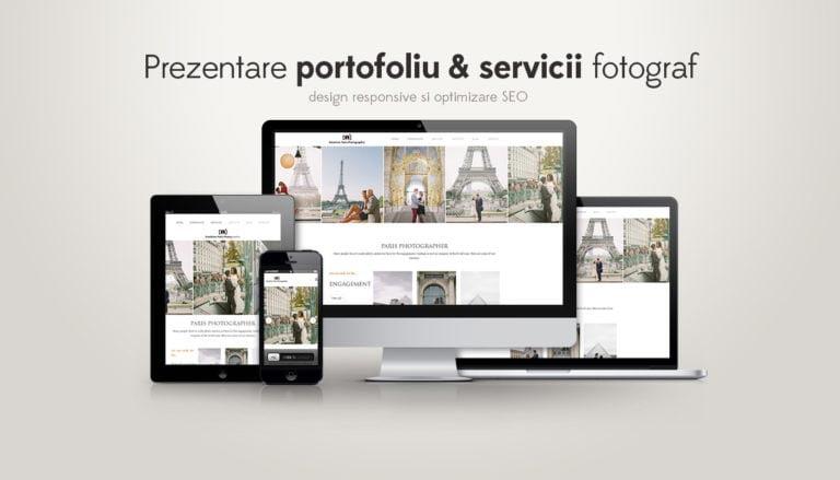creare site prezentare fotograf responsive