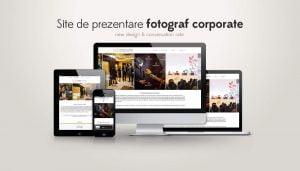 site de prezentrare fotograf corporate
