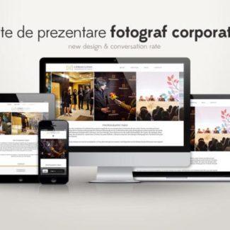 Site de prezentare fotograf corporate (evenimente)