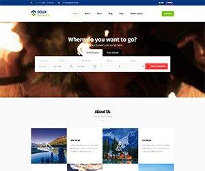 creare site turism, model 5