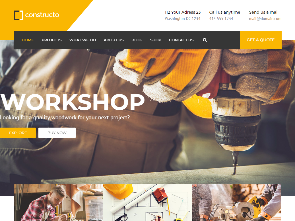 creare site firma constructii model 2
