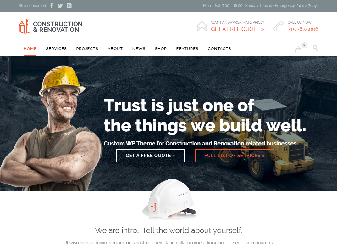 creare site firma constructii model 3