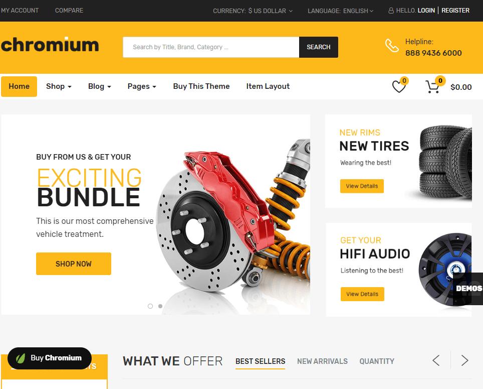 creare site piese auto model 3