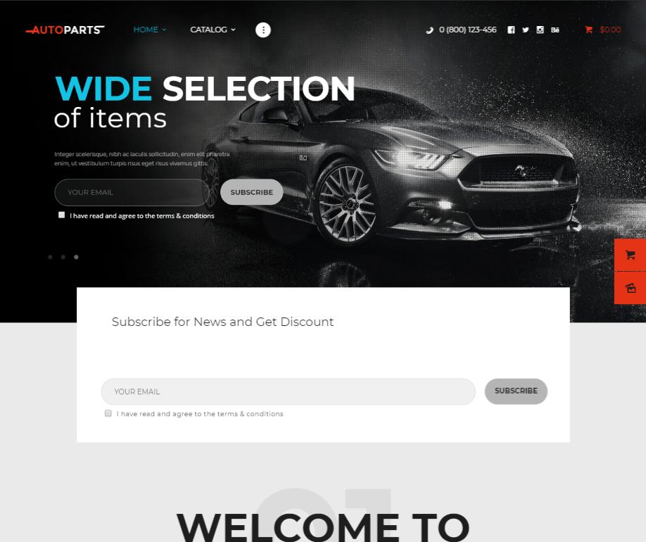 creare site piese auto model 6