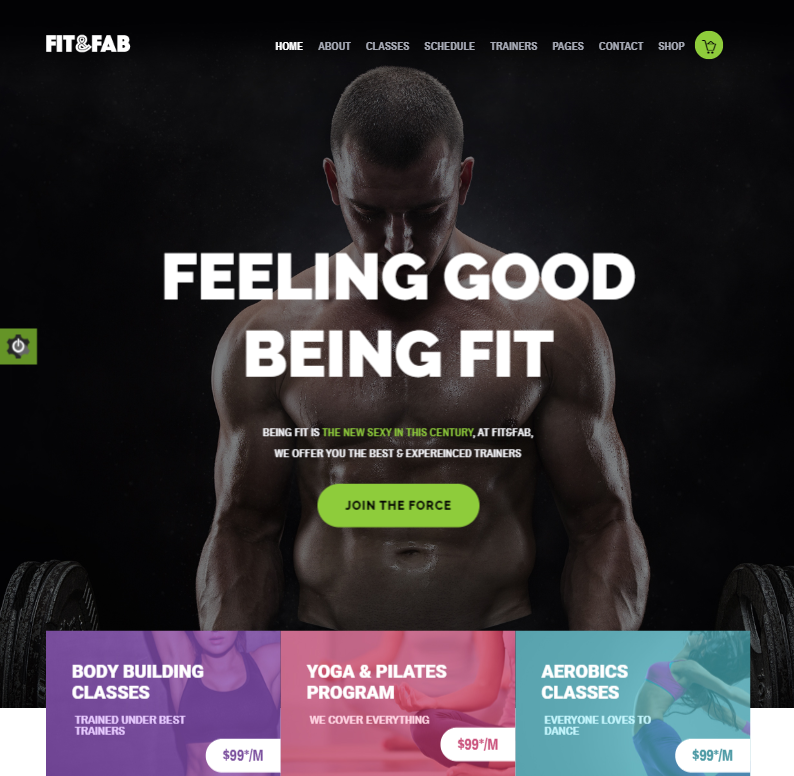 creare site sala fitness model 4