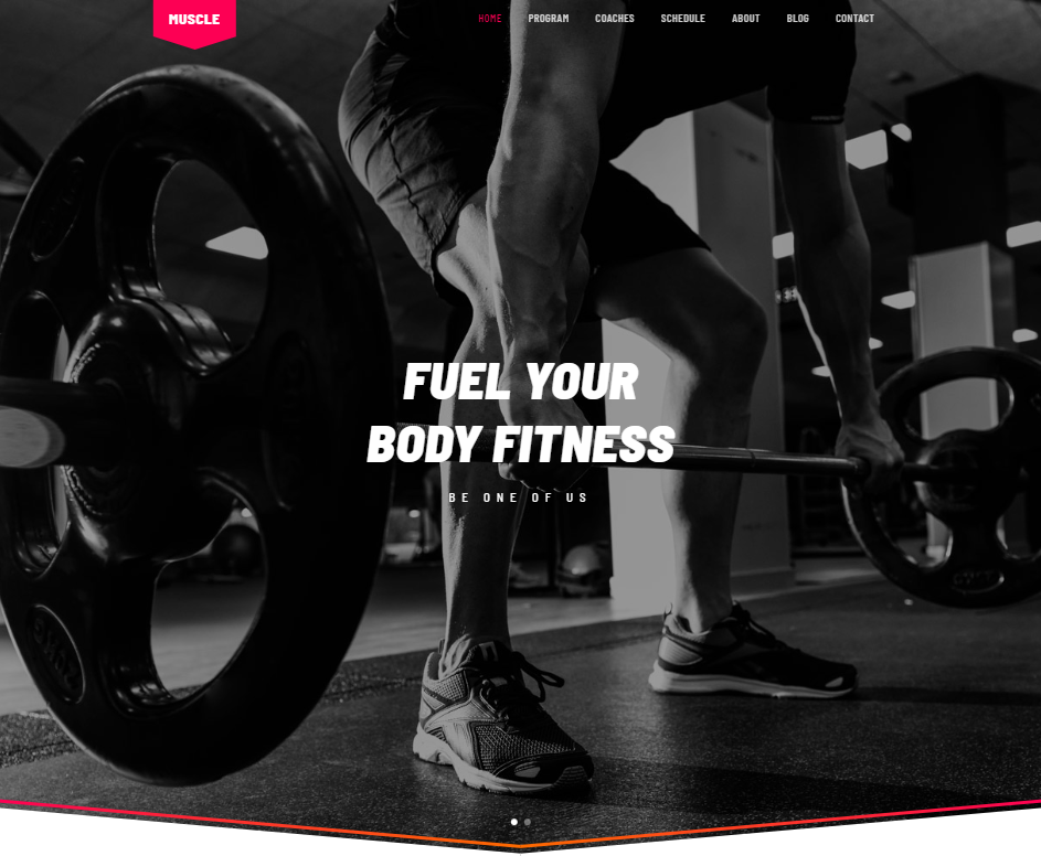 creare site sala fitness model 6