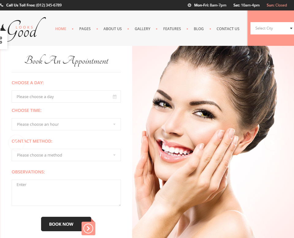 creare site salon infrumusetare model 1