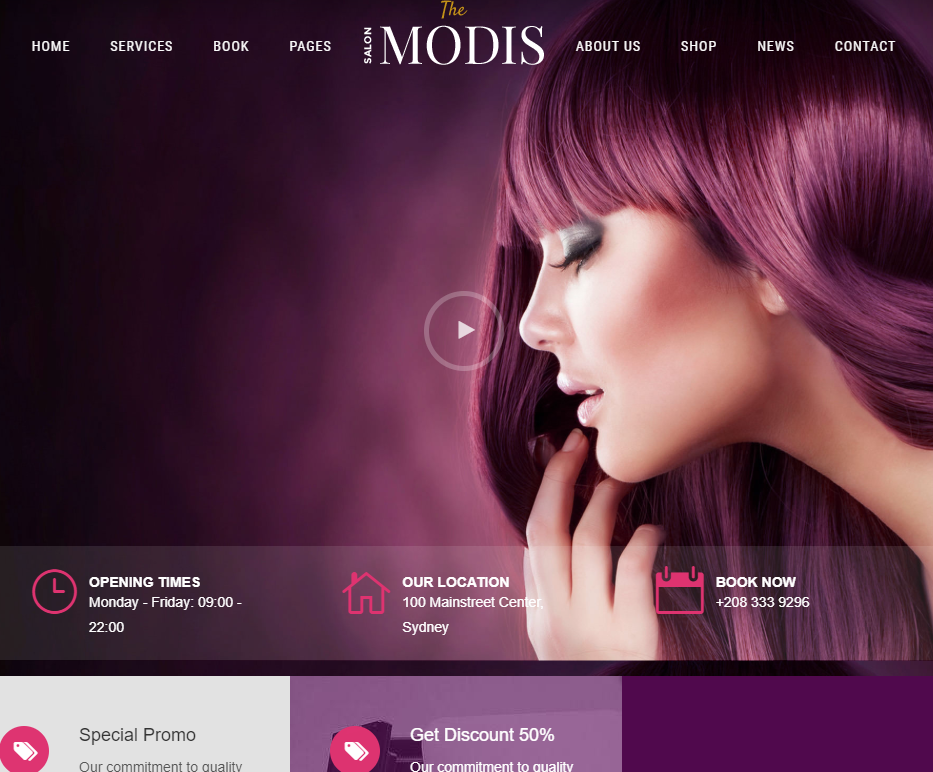 creare site salon infrumusetare model 2