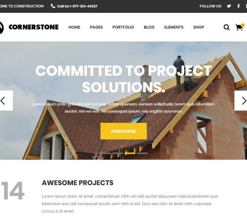 creare site firma constructii model 1