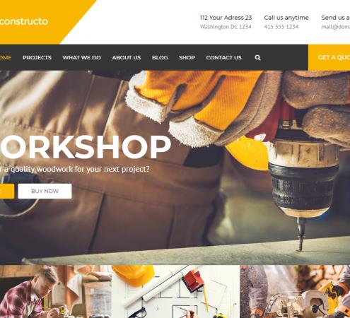 creare site firma constructii model 2