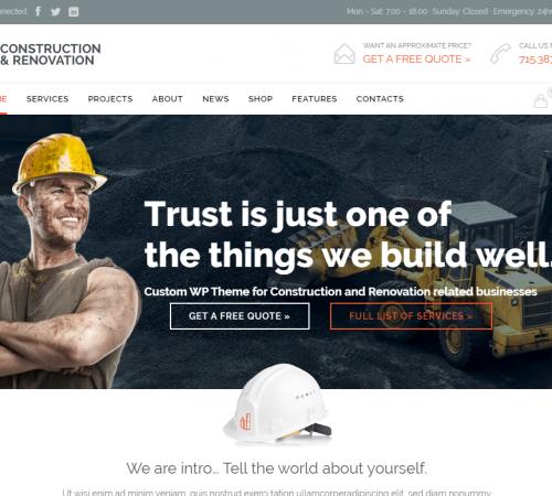 creare site firma constructii model 3