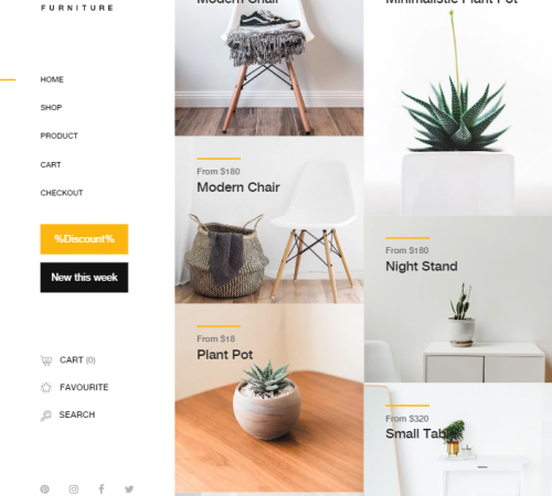 creare site magazin online model 1