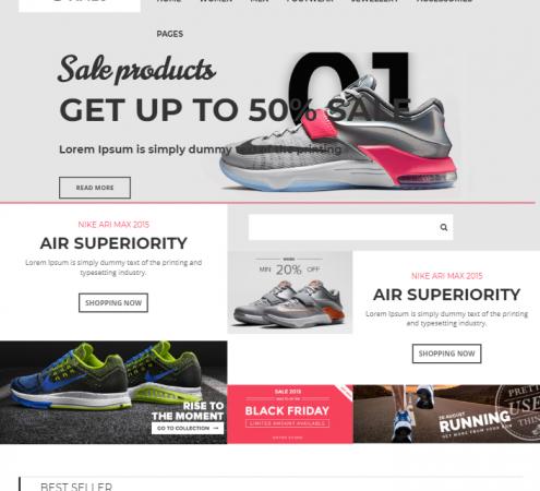 creare site magazin online model 2
