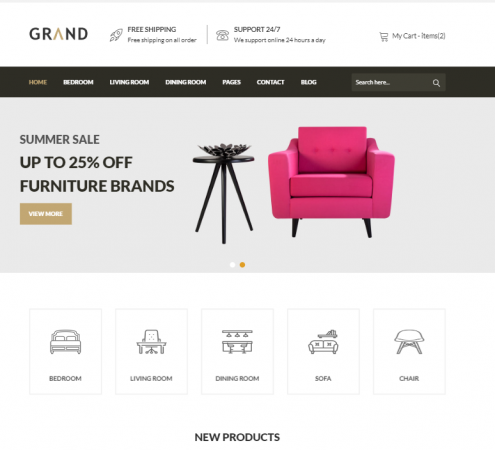 creare site magazin online model 5