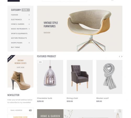 creare site magazin online model 6