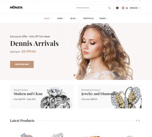 creare site magazin online model 7