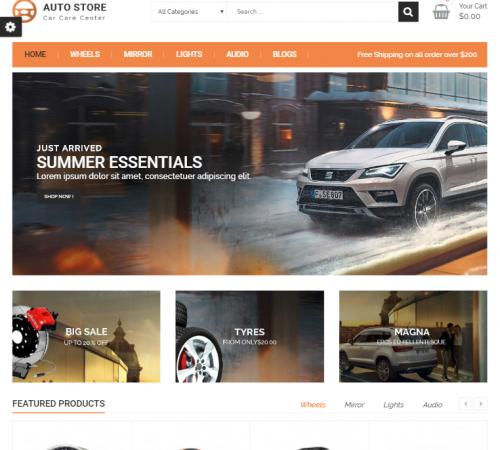 creare site piese auto model 4
