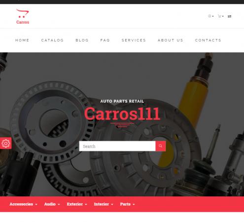 creare site piese auto model 5