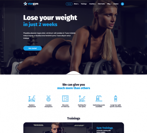 creare site sala fitness model 5