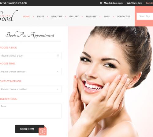 creare site salon infrumusetare model 1