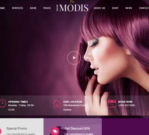 creare site salon infrumusetare model 2