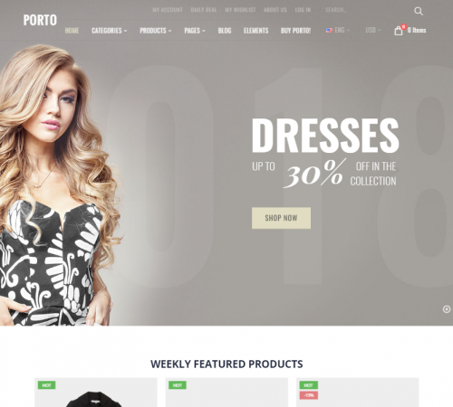 creare site wordpress model 7